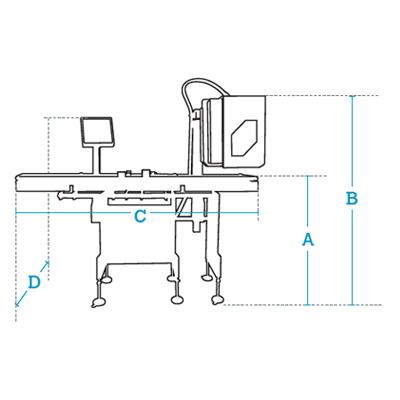Размеры Автоматический этикетировщик Dibal LS-4000+ Испания до 150 этикеток в минуту