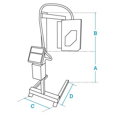 Размеры комплекса Dibal LA-3000 Испания автоматического этекировщика